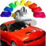 Fluorescerende verf voor auto's in spuitbus