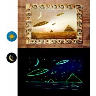 "Phosphorescente Papyrus ""Collectie Alien Piramides"""