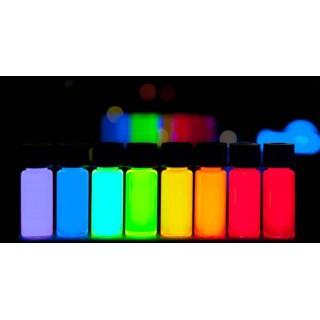 Fluorescerende onzichtbare inkt reageert onder UV-licht